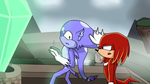 Gribridine and Knuckles - Dont touch him by NinaHunter