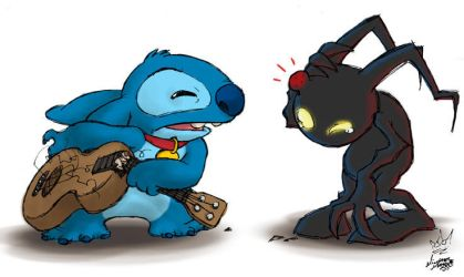 KH2 - A Shadow Engages Stitch by MichaelMayne