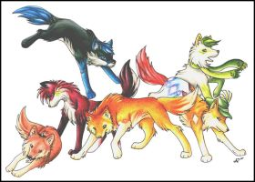 Deviant Wolves by Halo-2-fan