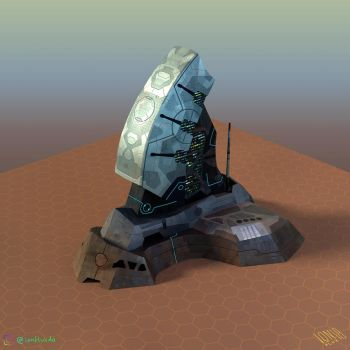Colony Command Center (3D model/side) by IonfluxDA