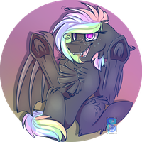 (C) this bat ate lucky charms by ScottiePaws