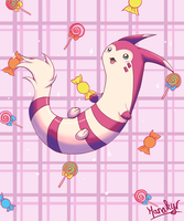 Furret and candies by Manakyr