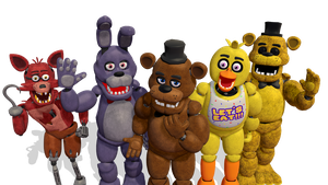 MMD Five Nigths at Freddy's 1 Pack DL by ErickMaster102
