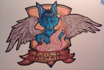 silver fang badge trade by foxteeth