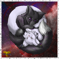 [Personal Art] Midnight and Mea by Meaeshana