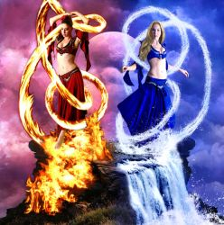 Elemental: Fire and Water by Silverayn