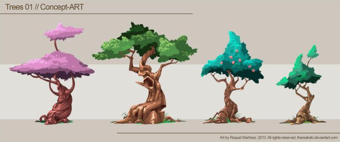 Trees 01, Concept-Art by TheRealRaki