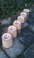 leather dice cups birth gift idea by BalmoraLeathercraft