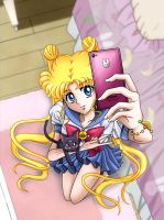 Usagi-Chan Selfie! by Sailor-Crisis