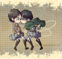 Eren + Levi by JellyPopsicle