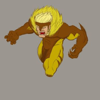 Sabretooth Warm Up by BlueWolfD