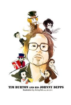Tim Burton and his Johnny Depp by amoykid
