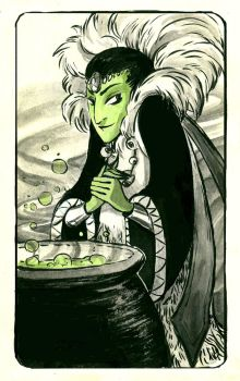 Wicked Witch - Inktober Day 10 by stasiaarts