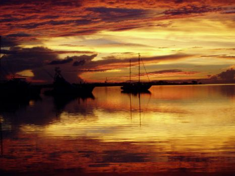 Harbor Sunset I by Dylactus