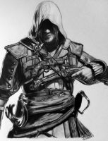 Assassin's Creed 4 - Fan Art Drawing by LethalChris