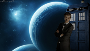 Ten and TARDIS by WLiiALuv4Ever