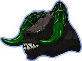 Deathclaw Badge [Comm] by FurYourDreams