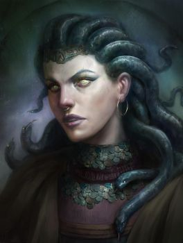 Medusa (repainted after a year and a half) by tadas0