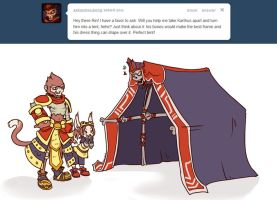 Karthus Tent and Wukong sillies by RinTheYordle