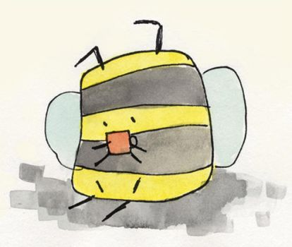 Bumble bee with tea by elbooga