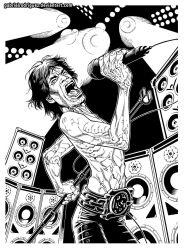 Mick -Ironman- Jagger inks by GabrielRodriguez