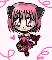 Request: Mew Strawberry Bell by lillilotus