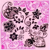 Office doodle in pink and black by yael360
