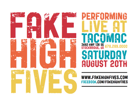 Flier for Fake High Fives 2 by ronamo