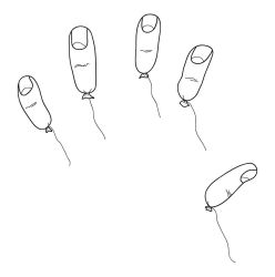 Finger Balloons by glue