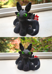 Toothless HTTYD Polymer Clay Figure by forestfolke