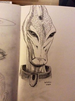 Daily Sketch - Salarian by Snazz84