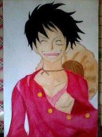 2013 drawing - King of the pirates: Luffy :) by nielopena