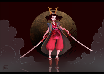 Character Design Challenge: Samurai and Geisha by saratopale