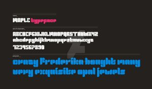 maple typeface teaser by arpad