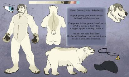 Shinboon - polar bear [ignore his old name :')] by Whitefeathur