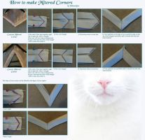 Mitered Corners Tutorial by Yashuntafun