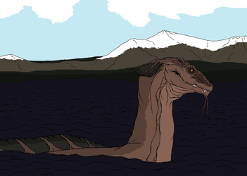 The great lake monster of Sweden by Redspets