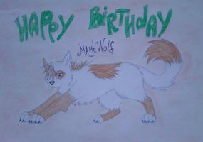 Happy B-day MayhWolf by Hidan4eTheBest