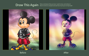 Draw this again: King Mickey by Jacky-Bunny