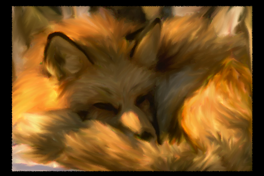Sleeping Fox by 2quillmadness