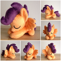 Plushie Tiny Scootaloo by Burgunzik