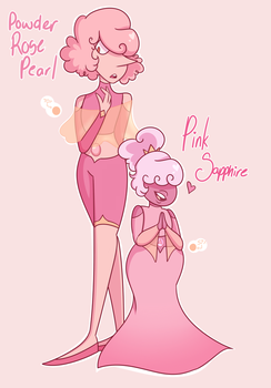 Powder Rose Pearl and Pink Sapphire by 5carletteRose