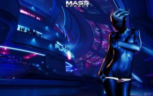 Mass Effect Liara T'soni in Purgatory by energy84