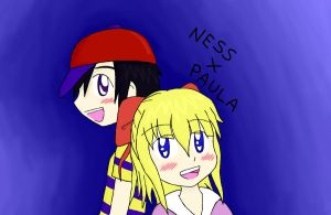 Ness x Paula -Color- by NekoRyo12