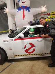 Luigi in Ecto-1 1 by PPG-Katelyn