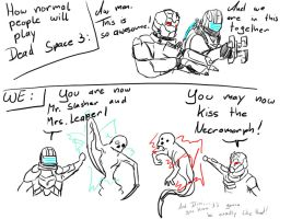 We in Dead Space 3 by PitchblackDragon