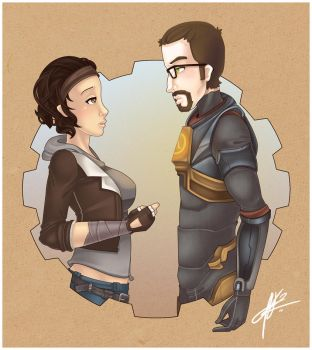 AT: Alyx + Gordon by pinkx2
