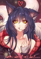 Ahri Happy Valentine's Day! by Arkuny by Arkuny