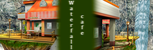 [MMD] Waterfall Cafe DL by JoanAgnes