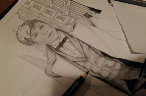 [FBAWTFT]  Newt Scamander  WIP by Sharklight-Express